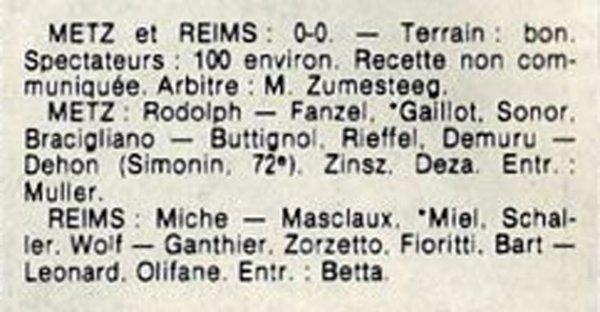 1984 D3 J03 METZ REIMS 0-0, le 09/09/1984