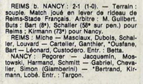 1984 D3 J05 REIMS NANCY 2-1, le 23/09/1984