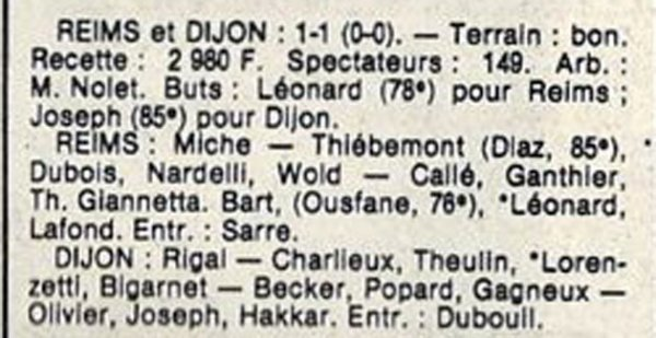 1984 D3 J20 REIMS CERCLE DIJON 1-1, le 24/02/1985