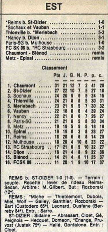 1984 D3 J22 REIMS SAINT-DIZIER 1-0, le 17/03/1985
