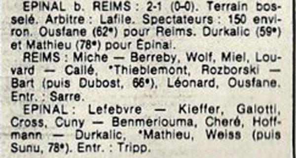 1984 D3 J24 REIMS EPINAL 1-2, le 31/03/1985