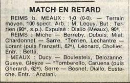 1983 D3 J24 ( joué après J26) REIMS MEAUX 1-0, le 02/05/1984