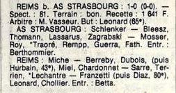 1983 D3 J27 AS STRASBOURG REIMS 0-1, le 06/05/1984
