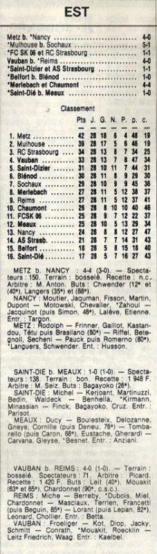 1983 D3 J28 VAUBAN-STRASBOURG REIMS 4-0, le 13/05/1984