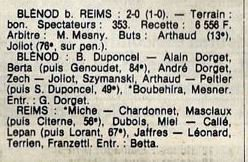 1983 D3 J29 BLENOD REIMS 2-0, le 20/05/1984