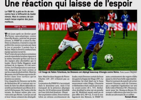 2017 Ligue 2 J22 BOURG EN BRESSE REIMS 0-2, le 19/01/2018