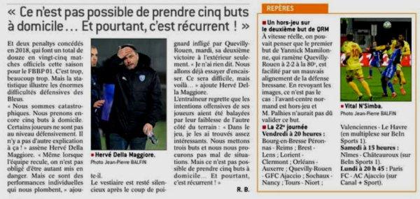 2017 Ligue 2 J21 BOURG en BRESSE QUEVILLY-ROUEN 3-5, le 16/01/2018