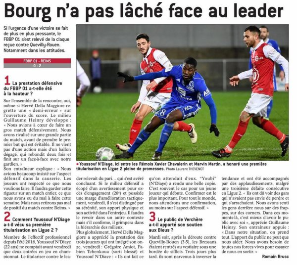 2017 Ligue 2 J22 BOURG EN BRESSE REIMS 0-2, les + du blog,  le 23/01/2018