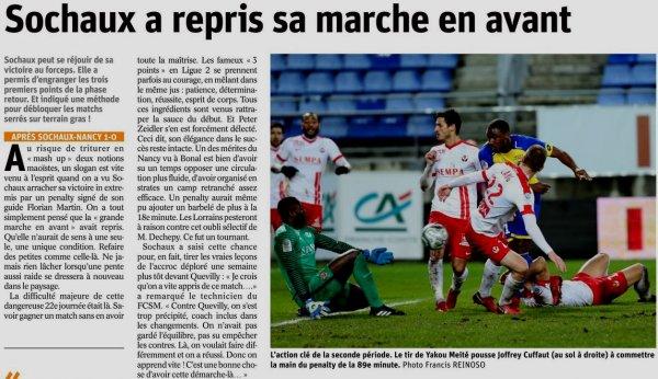 2017 Ligue 2 J22 SOCHAUX NANCY 1-0, le 19/01/2018
