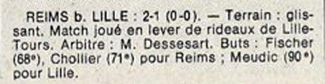 1982 D3 J04 LILLE REIMS 1-2, le 21/09/1982