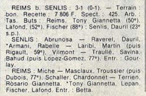 1982 D3 J06 SENLIS REIMS 1-3, le 02/10/1982
