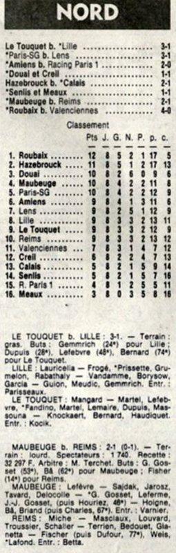 1982 D3 J08  MAUBEUGE REIMS 2-1, le 16/10/1982