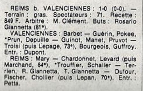 1982 D3 J15 VALENCIENNES REIMS 0-1, le 08/01/1983