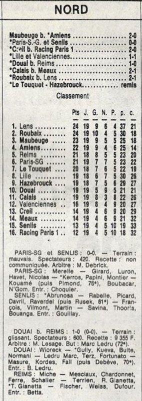 1989 D3 J19 DOUAI REIMS 1-0, le 20/02/1983