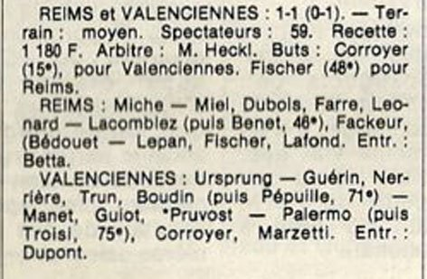 1982 D3 J29 REIMS VALENCIENNES 1-1, le 14/05/1983