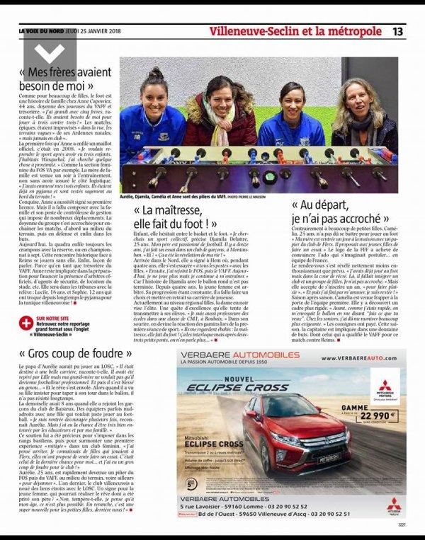 2017 CDF16 Féminines VILLENEUVE d' ASCQ REIMS 1-4 , le 27/01/2018