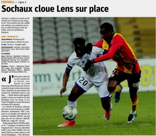 2017 Ligue 2 J21 ( joué après J23 ) LENS SOCHAUX 0-1, le 30/01/2018