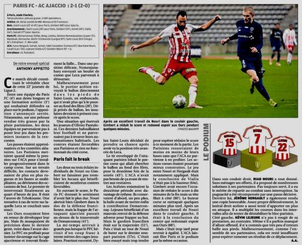 2017 Ligue 2 J22 PARIS FC AJACCIO 2-1, le 22/01/2018