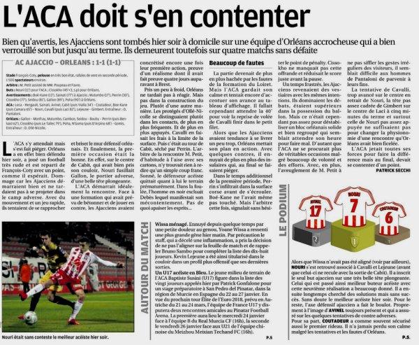 2017 Ligue 2 J21 AJACCIO ORLEANS 1-1, le 16/01/2018