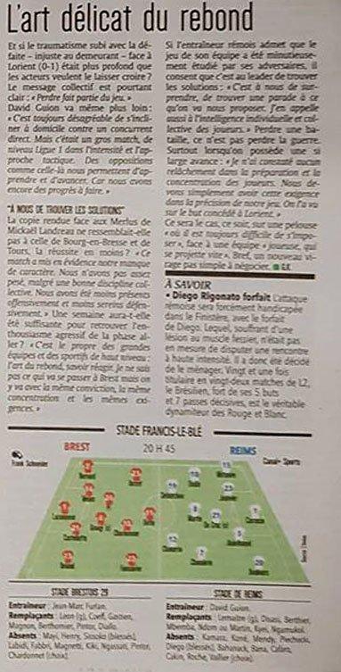 2017 Ligue 2 J24 BREST REIMS, l'avant match,  le 04/02/2018