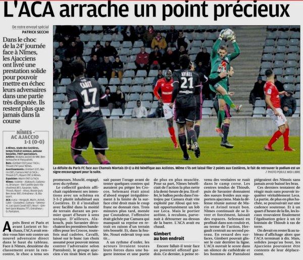 2017 Ligue 2 J24 NÎMES AJACCIO 1-1, le 02/02/2018