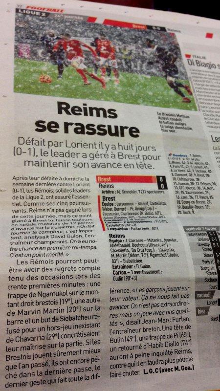 2017 Ligue 2 J24 BREST REIMS 0-0, le 05/02/2018