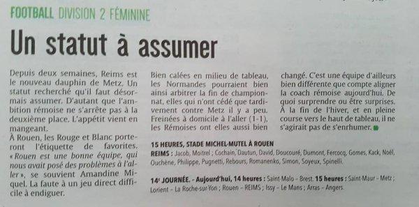 2017 D2 Féminines ROUEN REIMS 0-1, le 18/02/2018