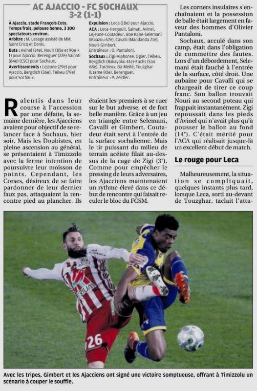 2017 Ligue 2 J27 AJACCIO SOCHAUX 3-2, le 23/02/2018