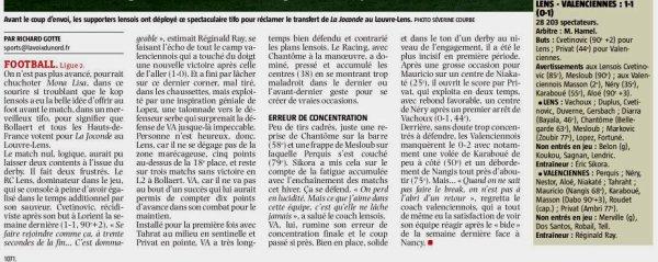 2017 Ligue 2 J25 LENS VALENCIENNES 1-1, le 10/02/2018