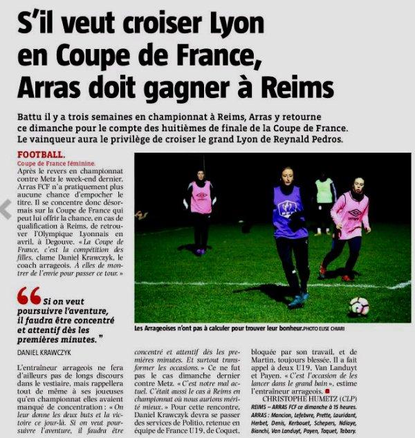 2017 CDF08 Féminines REIMS ARRAS 1-1 ( tab 6-7) , le 04/03/2018