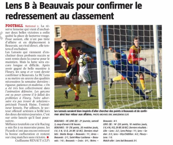2017 NATIONAL J21 BEAUVAIS LENS 1-2, le 03/03/2018