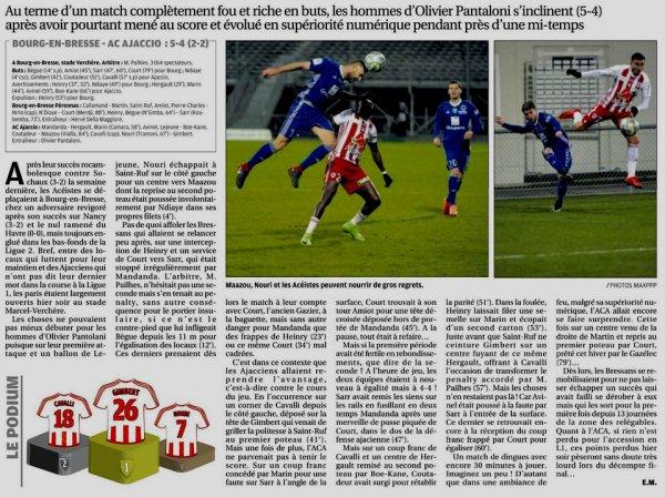 2017 Ligue 2 J28 BOURG en BRESSE AJACCIO 5-4, le 02/03/2018