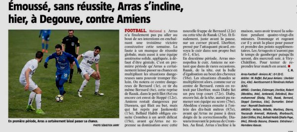 2017 NATIONAL 2 J23 ARRAS AMIENS AC 0-1, le 17/03/2018