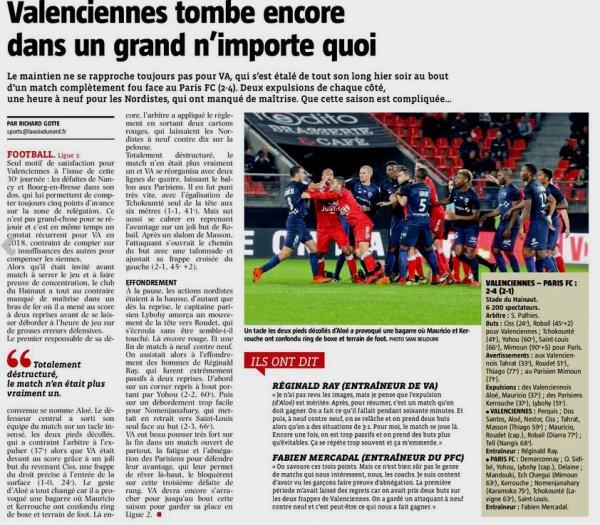 2017 Ligue 2 J30 VALENCIENNES PARIS FC 2-4, le 16/03/2018