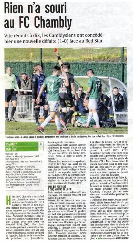 2017 NATIONAL J25 CHAMBLY RED STAR 0-1, le 10/03/2018
