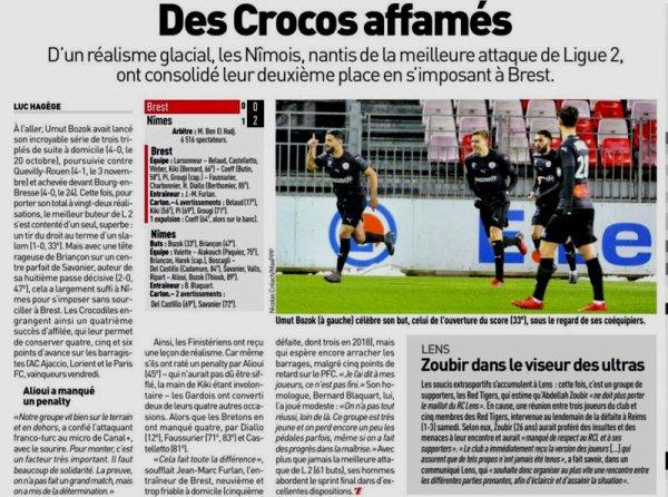 2017 Ligue 2 J30 BREST NÎMES 0-2, le 19/03/2018