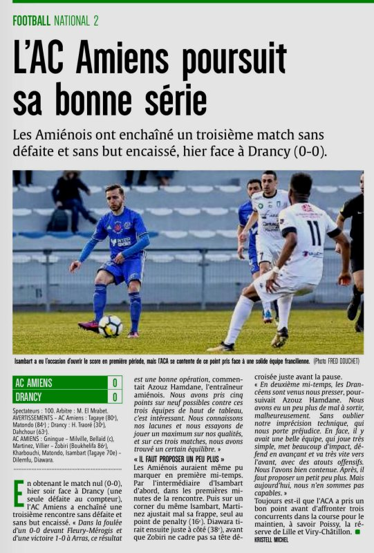 2017 NATIONAL 2 J24 AMIENS DRANCY 0-0, le 24/03/2018