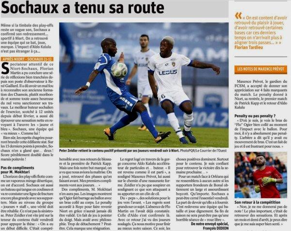 2017 Ligue 2 J31 NIORT SOCHAUX 1-1, le 30/03/2018