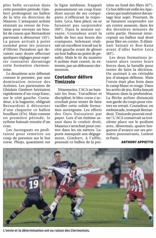 2017 Ligue 2 J31 AJACCIO CLERMONT 2-1, le 30/03/2018