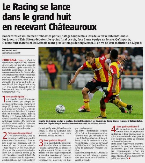 2017 Ligue 2 J31 LENS CHÂTEAUROUX 2-1, le 02/04/2018