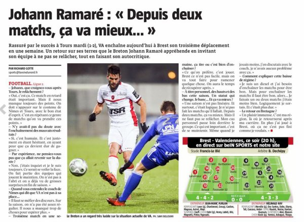 2017 Ligue 2 J32 BREST VALENCIENNES 3-1, le 06/04/2018