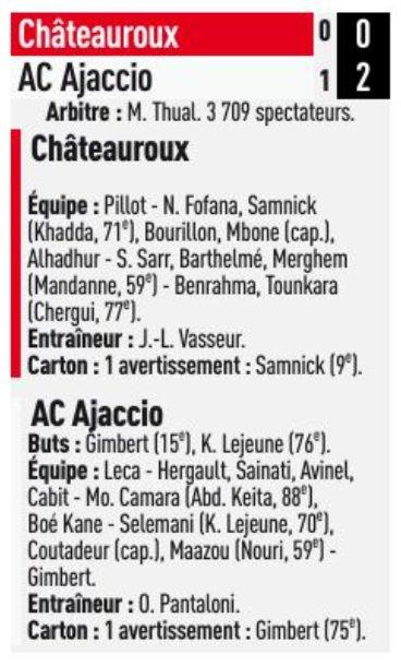 2017 Ligue 2 J32 CHÂTEAUROUX AJACCIO 0-2, le 06/04/2018