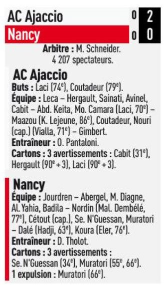 2017 Ligue 2 J33 AJACCIO NANCY 2-0, le 13/04/2018
