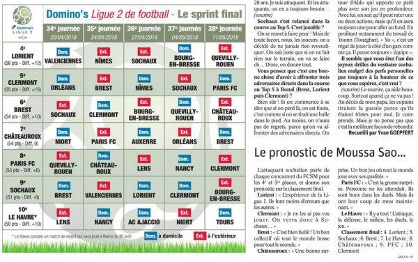 2017 Ligue 2 J34 SOCHAUX BREST 1-1, le 20/04/2018