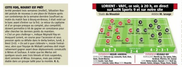 2017 Ligue 2 J34 LORIENT VALENCIENNES 0-1, le 20/04/2018