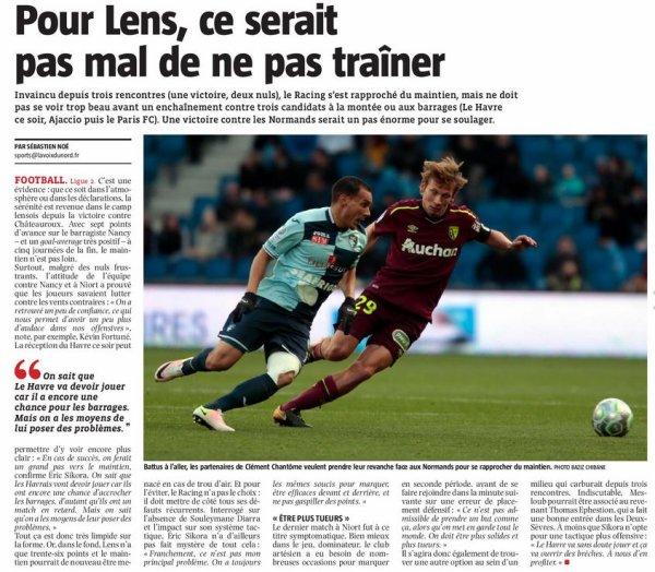 2017 Ligue 2 J34 LENS LE HAVRE 3-3, le 20/04/2018
