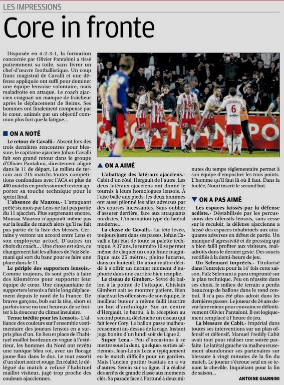 2017 Ligue 2 J35 AJACCIO LENS 2-0, le 23/04/2018