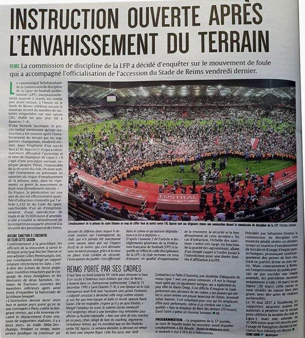 2017 Ligue 2 J34 REIMS AJACCIO 1-0 : PELOUSE SACREE ??, le 25/04/2018