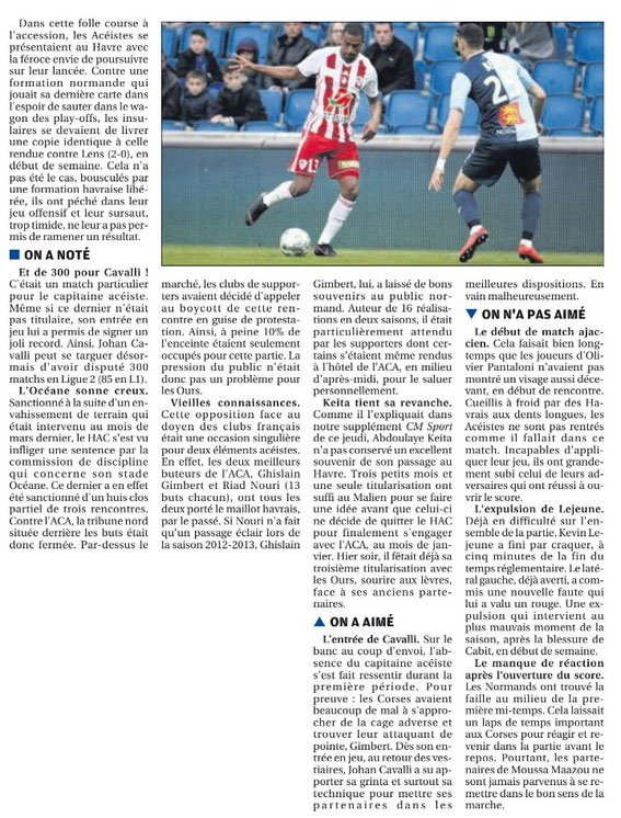 2017 Ligue 2 J36 LE HAVRE AJACCIO 2-0, le 27/04/2018