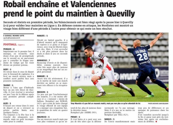 2017 Ligue J36 QUEVILLY-ROUEN VALENCIENNES 2-2, le 27/04/2018